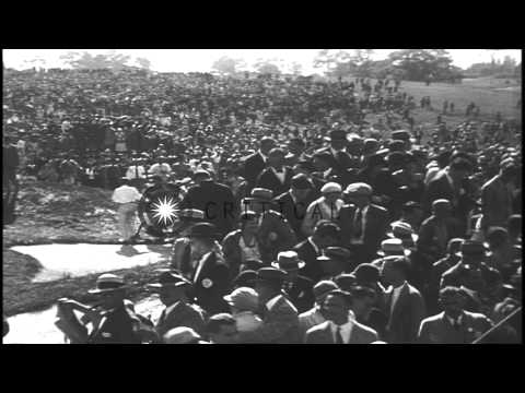 Golfer Bobby Jones wins the U.S. Amateur Championship held at Merion Golf Club in...HD Stock Footage