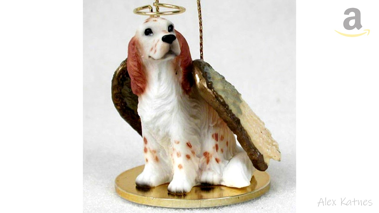 Sheltie Ornament Angel Figurine Hand Painted Tri Color