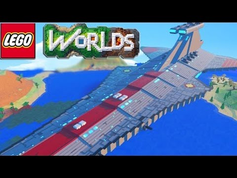 LEGO WORLDS Building The Most Epic Spaceship & Base! (Lego Worlds)