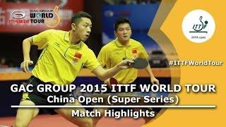 China Open 2015 Highlights: FAN Zhendong/XU Xin vs FANG Bo/ZHU Linfeng (FINAL)