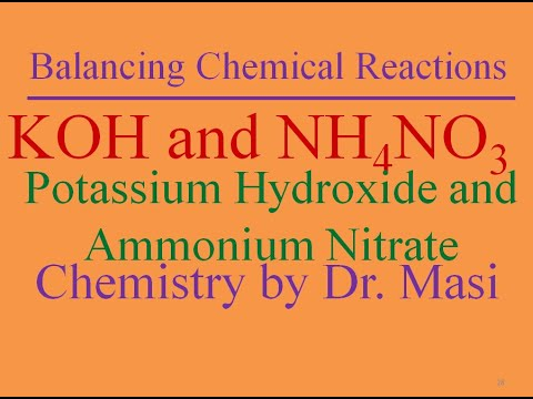 How To Balance The Reaction Between Ammonium Nitrate And Potassium Hydroxide