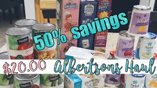 $20.00 ALBERTSON'S GROCERY HAUL | OVER 50% SAVINGS | DIGITAL COUPONING