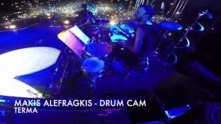 TERMA mazonakis live @ theatro vraxwn (drum cam makis alefragkis)