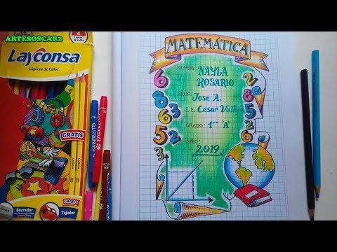 como-dibujar-caratula-de-matemÁtica---cover-for-mathematics-notebooks