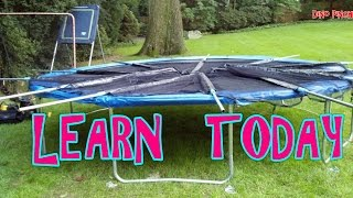 backyard trampoline assembly
