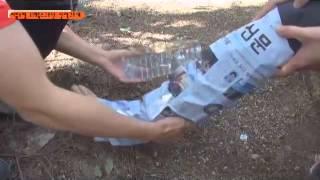 발목부상 응급처치(페트병+신문지+등산복상의+등산화끈)