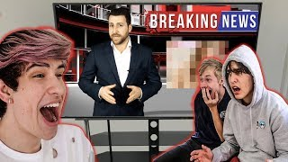 HIS LEAKED PHOTOS ON THE NEWS PRANK