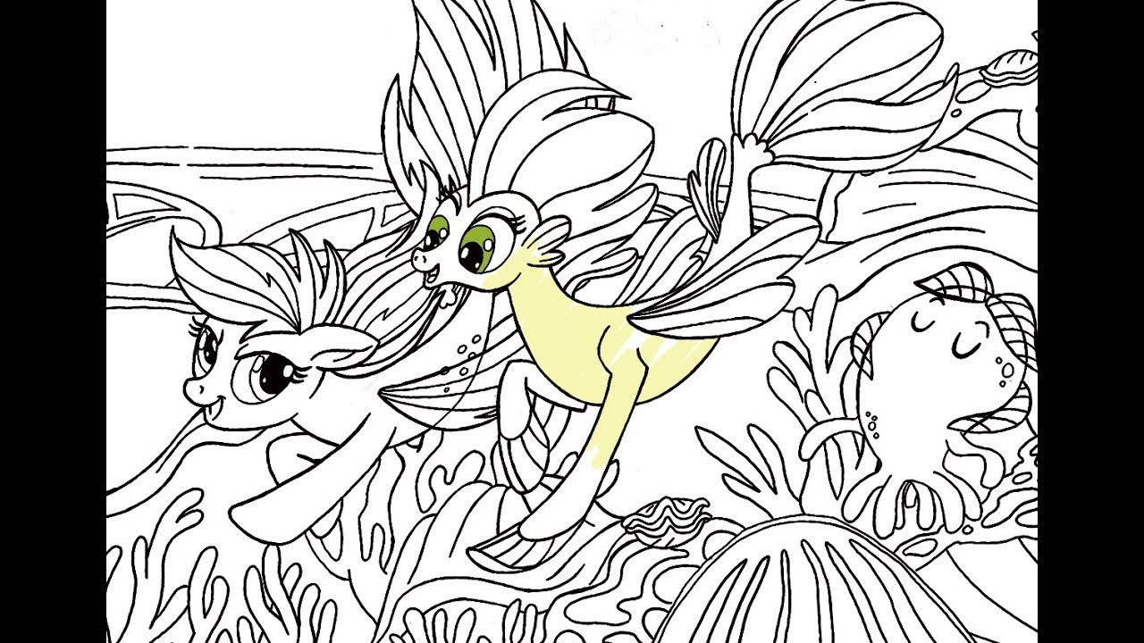 my little pony mermaid coloring pages My little pony movie • Undersea ponies • Rainbow dash mermaid  my little pony mermaid coloring pages