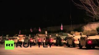 USA: See Missouri National Guard troops pour into Ferguson