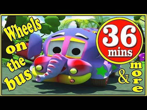 Wheels On The Bus | Compilation | Playlist | Popular Nursery Rhymes Collection