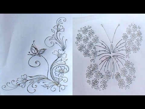 Beautiful Butterfly Drawing tutorial step by step for beginners,প্রজাপতি অংকন,तितली ड्राइंग