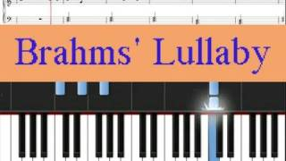 Video Brahms Lullaby (Easy Piano), free sheet music provided download MP3, 3GP, MP4, WEBM, AVI, FLV Juni 2018