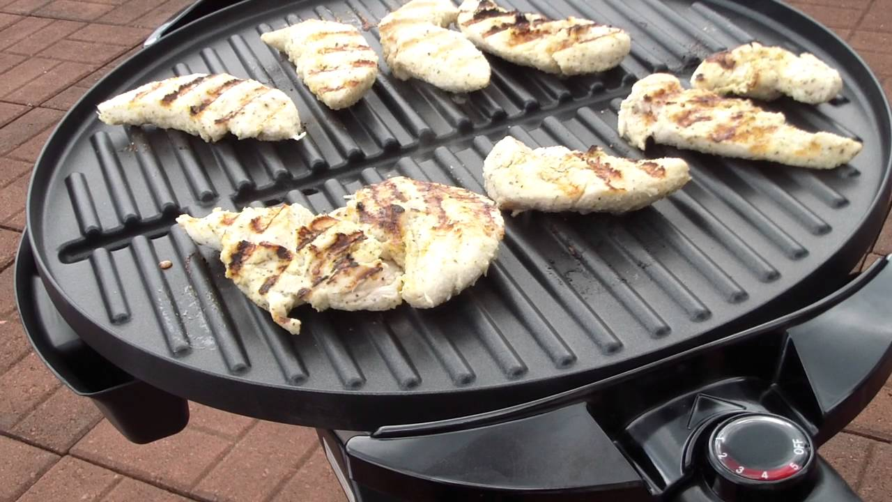 First Use George Foreman 15 Serving Indoor Outdoor Grill