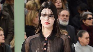 Kendall Jenner Braless SHEER Top at Paris Fashion Week 2015