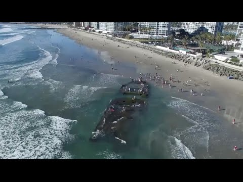 Sunken gambling ship reappears 80 years later off Coronado