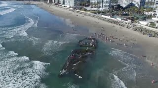 Sunken gambling ship reappears 80 years later off Coronado
