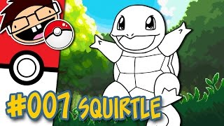 How to Draw #007 SQUIRTLE | Narrated Easy Step-by-Step Tutorial | Pokemon Drawing Project