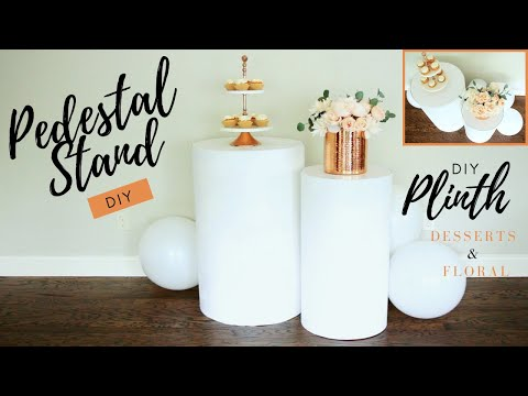DIY Round Pedestal Stands |  PERFECT to Display Your Party Decorations!