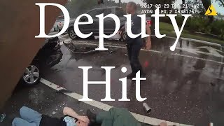 Deputy Hit By Car Working Traffic Accident