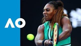 Serena Williams v Simona Halep first set highlights (4R)   Australian Open 2019