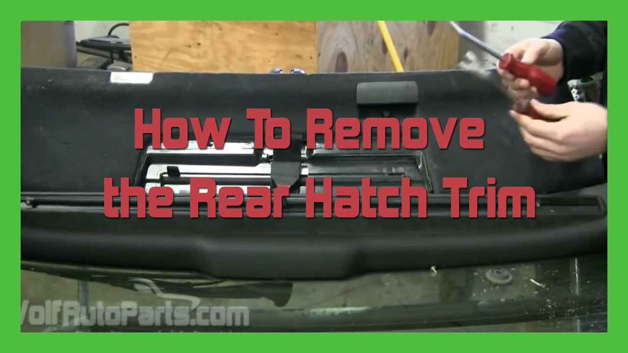 How To Remove The Rear Hatch Trim Audi Allroad C5 2001