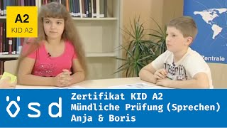 ÖSD Zertifikat KID A2 – Mündliche Prüfung (Sprechen)