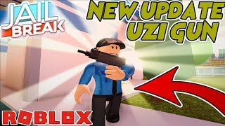 ROBLOX JAILBREAK BRAND NEW FIREMAN JOB!? (Uzi Gun, Fire Engines, Fire, Job)