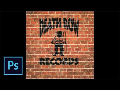 1 Minute Photoshop Tutorial - How To Put Death Row Records Logo On Brick Wall thumbnail