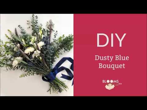 DIY Dusty Blue Bouquet