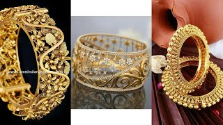 Latest Light Weight Gold Kada/Bangles Design/Latest Collection 2018