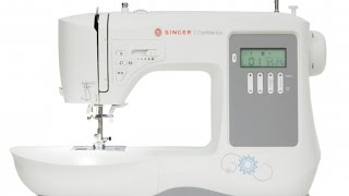 Singer 7640 Confidence. 200 Stitches .Top Drop-In Bobbin.8 Built-In 1-Step Buttonhole Styles.