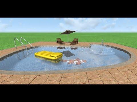 Dise o 3d de piscina con landscape3design youtube for Programa diseno de piscinas 3d gratis