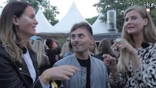 Oskar Linnros hänger med Katja & Olivia