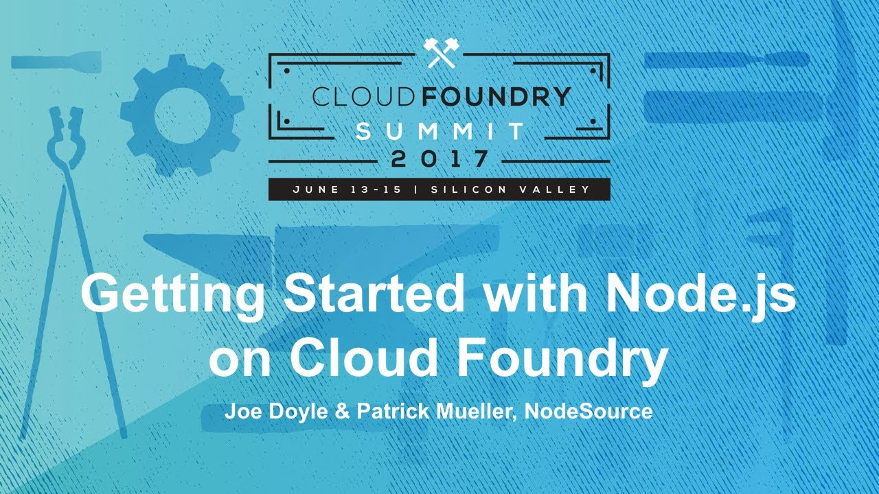 Getting Started with Node js on Cloud Foundry