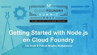 Getting Started with Node.js on Cloud Foundry