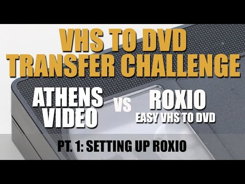 VHS To DVD Challenge Part 1: Setting Up Roxio VHS To DVD