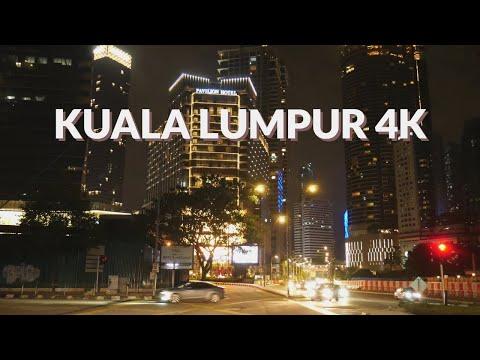 KUALA LUMPUR 4K - NIGHT DRIVE - DRIVING DOWNTOWN