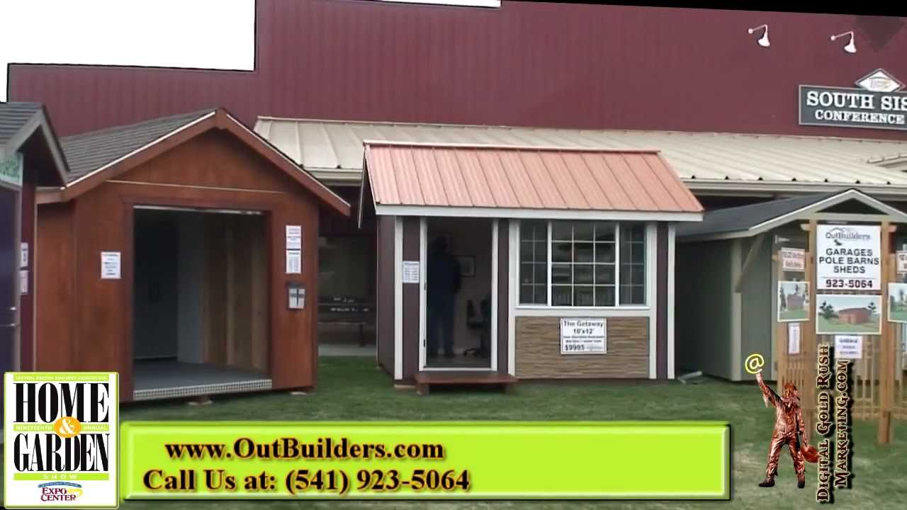 Garden Sheds Oregon outbuilders storage sheds & more | central oregon home show - youtube