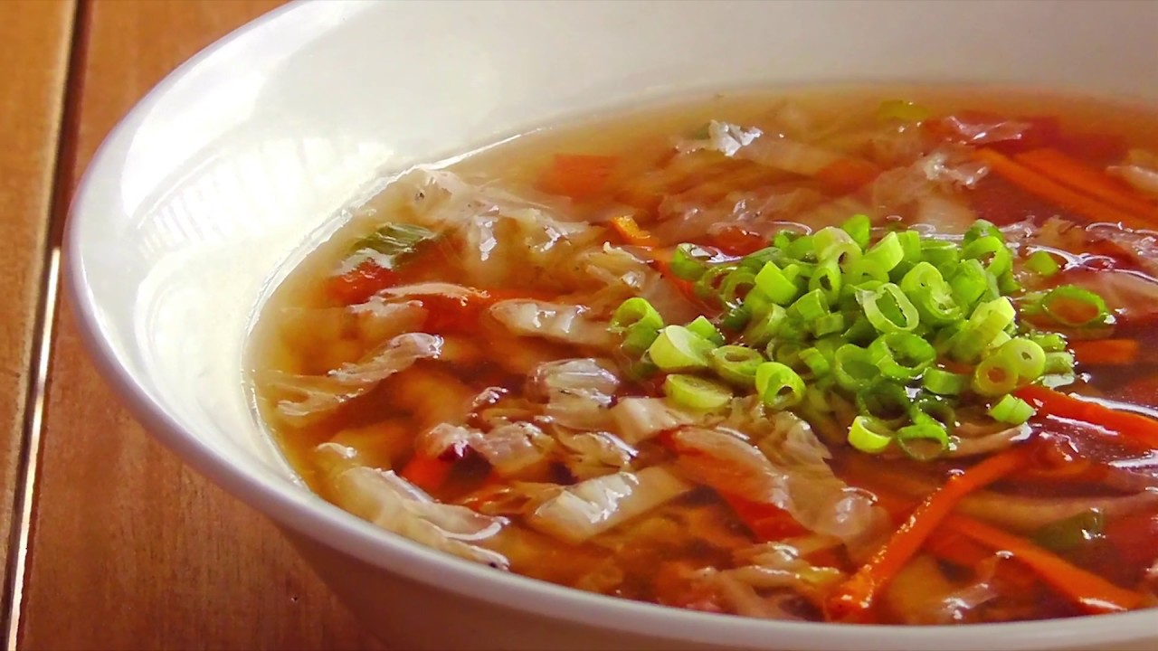 chinesische scharf saure suppe vegan vegetarisches rezept youtube. Black Bedroom Furniture Sets. Home Design Ideas