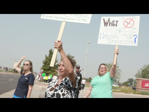 Nurses protest mandatory COVID-19 vaccines for health care workers