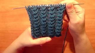 #Вяжем спицами: # Объёмный узор для шапок и кардиганов 4/πλέξιμο μοτίβο για πάγων και πουλόβερ