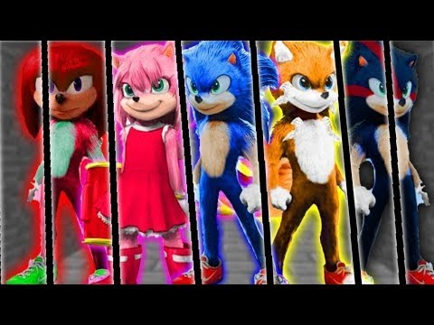 Sonic Movie All Character Designs Sonic Tails Amy Shadow Knuckles Sonic Movie Update Youtube