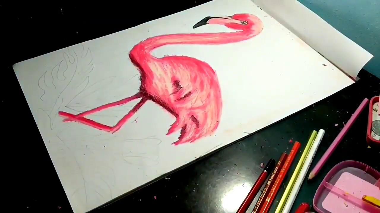 Menggambar Burung Flamingo How To Draw Flamingo Youtube