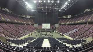 Time Lapse of a Large PA Audio Sound System Setup for Rock & Roll