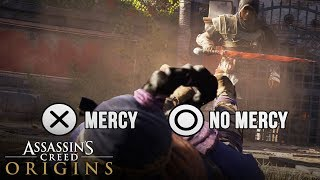 Assassin's Creed Origins - All Good & Bad Endings (Gladiator Endings) Mercy or No Mercy Choice