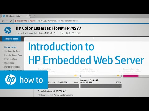Introduction to the HP Embedded Web Server | HP Web Server