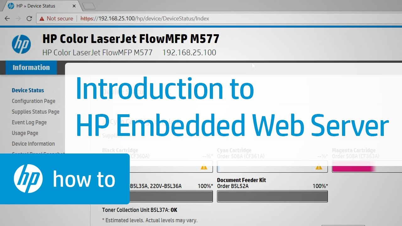 Introduction to the HP Embedded Web Server | HP Web Server | HP