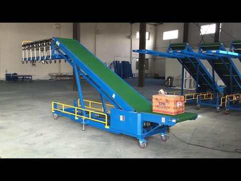 Automatic trailer/van/truck/container loading and unloading conveyor