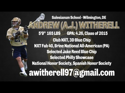 Andrew (A.J.) Witherell - Salesianum School / Class of 2015