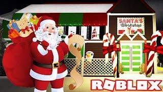 SANTA'S CHRISTMAS ROUTINE | Bloxburg Roleplay | Roblox
